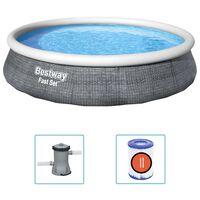 Bestway Fast Set piepūšamais baseins ar sūkni, 396x84 cm