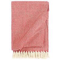 vidaXL pleds, sarkans, 220x250 cm, kokvilna