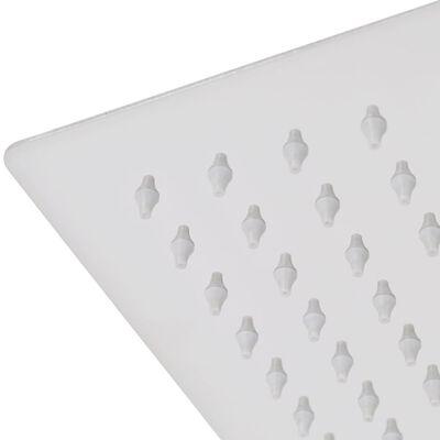 vidaXL lietus dušas galvas, 2 gab., 50x50 cm, nerūsējošs tērauds