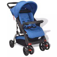 vidaXL bērnu pastaigu ratiņi, zili, 102x52x100 cm