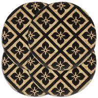vidaXL galda paliktņi, 4 gab., 38 cm, apaļi, melna džuta