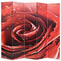 vidaXL istabas aizslietnis, 200x170 cm, saliekams, sarkans ar rozi