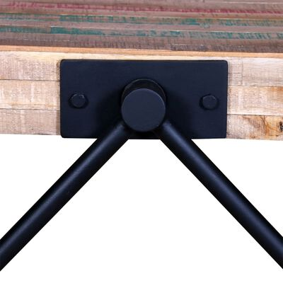 vidaXL kafijas galdiņš, V-formas kājas, pārstrādāts tīkkoks