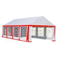 vidaXL svinību telts, 8x4 m, sarkana