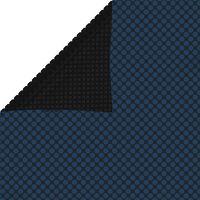 vidaXL baseina pārklājs, solārs, peldošs, 600x400cm, melns un zils PE