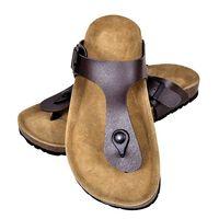 vidaXL sieviešu sandales ar korķa zoli, brūnas, 37. izmērs