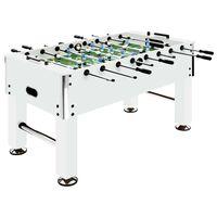 vidaXL galda futbols, 140x74,5x87,5 cm, 60 kg, tērauds, balts