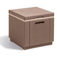 Allibert dzesēšanas kaste Ice Cube, kapučīno krāsā, 223761