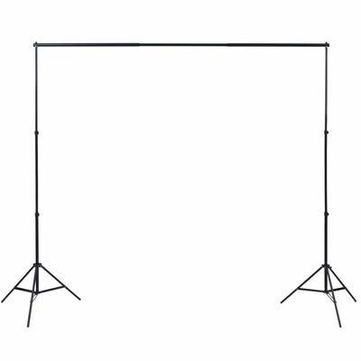 vidaXL fotostudijas fonu komplekts, 3 gab., regulējams rāmis, 3x3 m