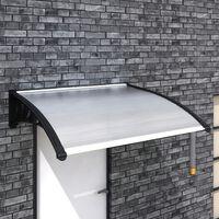 vidaXL durvju jumtiņš, 120x100 cm, PC
