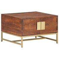 vidaXL kafijas galdiņš, 67x67x45 cm, medus brūns, akācijas masīvkoks