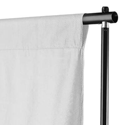 vidaXL fons, 300x300 cm, balta kokvilna