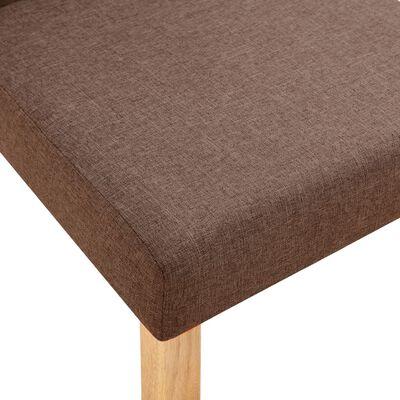 vidaXL virtuves krēsli, 4 gab., brūns audums