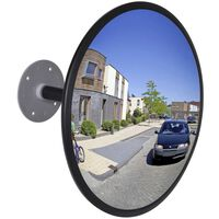 Convex Sfēriskais Satiksmes Spogulis 30 cm Ø Melns Rāmis,Iekštelpām