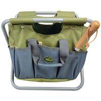Esschert Design dārza rīku soma, taburete, pelēka, GT85