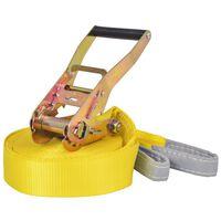 vidaXL līdzsvara lenta, 15 m x 50 mm, 150 kg, dzeltena