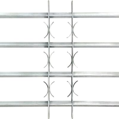 vidaXL regulējamas logu drošības restes, 2 gab., 1000 - 1500 mm