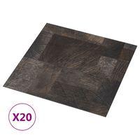 vidaXL grīdas flīzes, 20 gb., pašlīmējošas, 1,86m²,PVC, koka imitācija
