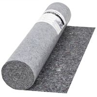 vidaXL grīdas pārklājs, 50 m, 280 g/m², neslīdošs, pelēks