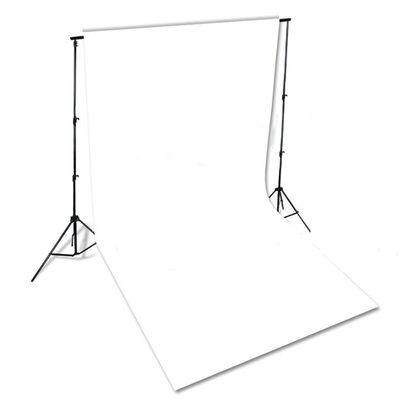 vidaXL fons, 600x300 cm, balta kokvilna