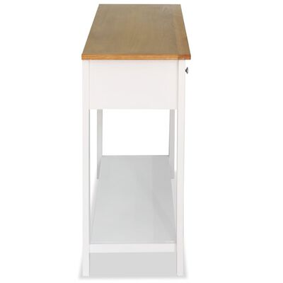vidaXL konsoles galds, 118x35x77 cm, ozola masīvkoks