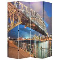 vidaXL istabas aizslietnis, 160x170 cm, saliekams, Hārbora tilts