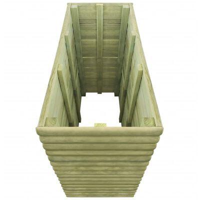 vidaXL augstā puķu kaste, 106x56x96 cm, impregnēts priedes koks
