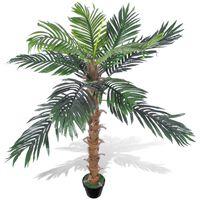 Mākslīgais Kokosriekstu Palmas Koks ar Podu, 140 cm