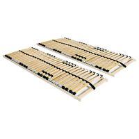 vidaXL gultas redeles, 2 gab. ar 28 līstītēm, 7 zonas, 90x200 cm