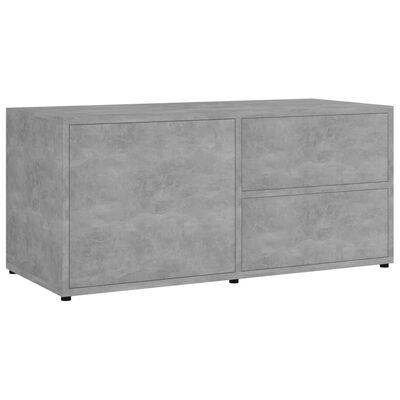 vidaXL TV skapītis, betonpelēks, 80x34x36 cm, skaidu plāksne